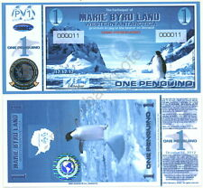 NEW 12.12.12-DATED MARIE BYRD LAND ONE PENGUINO FANTASY BANKNOTE REGULAR ISSUE!