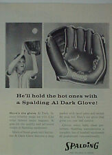 1957 Al Dark St. Louis Cardinals Spalding Baseball Glove Oddball Sports Print Ad