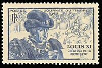 "FRANCE TIMBRE STAMP N°743 ""JOURNEE DU TIMBRE, LOUIS XI"" NEUF X TB"