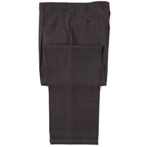 NWT $950 BRIONI 'Cannes' Gray-Brown Patterned Wool Dress Pants 30 W (Eu 46)