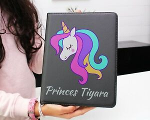 Personalised iPad case cover for kids unicorn designetc any iPad model Own Print