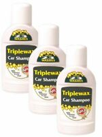 3x Triplewax - Car Shampoo Cleaner Removes Dirt & Grime and Leaves a Shine 375ml