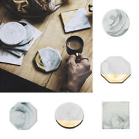 Tea Cup Pad Mat Marble Coaster Insulation Ceramic Home Decor Non-slip Fashion