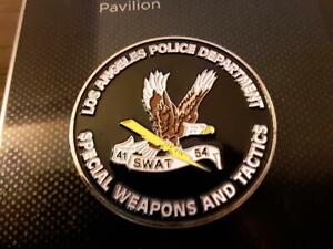 RARE LAPD SWAT EVEN COPS CALL 911 CHALLENGE COIN LOS ANGELES LEO