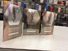 3 YSL L'Homme Parfum Intense for Men 0.05 oz  Vial Spray