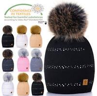Unisexe enfants Bonnet tricot chapeaux casquette hiver ver GARçON FILLE BULLE L