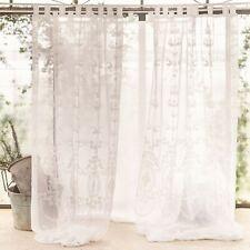 Blanc Mariclò Collezione Vanity Tenda ricamo con passanti 140 x 290 cm