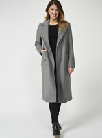 Helene Berman Wool Blend Edge To Edge Coat Grey Size UK 16 rrp £130 DH083 DD 01
