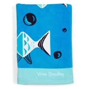 Vera Bradley **GO FISH BLUE** Large Beach Towel 33x66 NWT