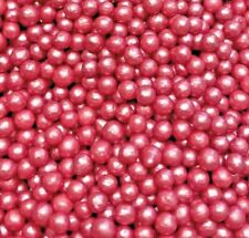 DEEP PINK EDIBLE PEARLS SPRINKLES DRAGEES CUPCAKE POPS DECORATIONS 100s&1000s