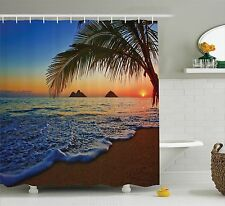Shower Curtain Beach Sunrise at Pacific Hawaiian Decor 70 Inches Long