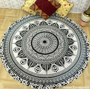 Indian Mandala Round Beach Tapestry Hippie Throw Yoga Mat Indian Roundie
