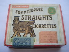 C1910 VINTAGE BUTLER-BUTLER EGYPTIENNE STRAIGHTS CIGARETTES 10 SIZE PACKET/BOX
