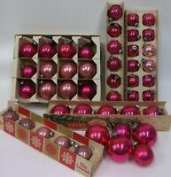 Estate Lot of 45 Vintage Pink Mercury Glass Shiny Brite Christmas Ornaments