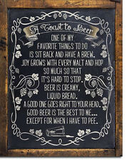 Toast to Beer    Vintage Style Metal Signs Man Cave Garage Decor 69