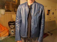D73 THRUXTON - M300THR leather jacket blue