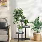 Corner Plant Stand Retractable Metal Ladder Flower Pot Display Rack for Home Dec