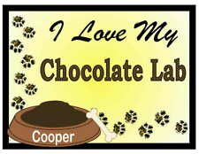 Chocolate Lab Personalized I Love My Chocolate Lab Magnet