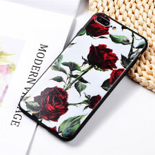 Phone Case For iPhone 6 6S 7 8 Plus X Soft TPU Silicone Cover Rose Flower Floral