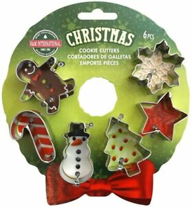 Christmas Mini Wreath Cookie Cutter Set -  6 Piece