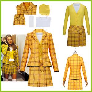 Girls School Uniform Women Suit Clueless Cher Horowitz Cosplay Halloween Costume