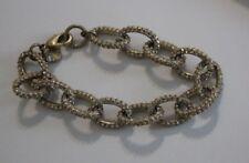 J CREW Factory statement bracelet gold tone links Rhinestones ec