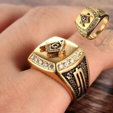 Hot Sale Men's Jewelry 18K Yellow Gold Filled Ring Wedding Engagement Ring Gift