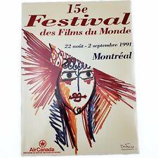 1991 Festival Des Films Du Monde Montreal Program Original Film Festival Book
