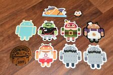 Lot 9 Stickers Android Google Robot Dead Zebra Andrew Bell art bot Decal button