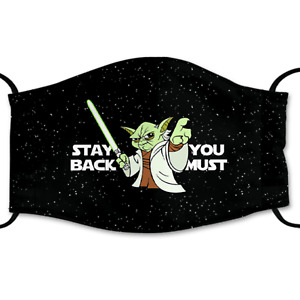 Yoda Face Mask With Adjustable Ear Straps - US Stock Free Shipping