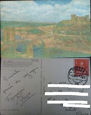 POSTAL TOLEDO 1959 PUENTE ALCANTARA CASTILLO SAN SERVANDO POSTCARD       CC03907