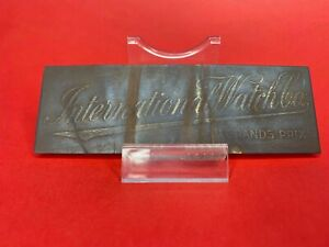 IWC GRAND PRIX ANTIQUE VINTAGE METAL ADVERTISEMENT 12 cm x 4 cm - RARE