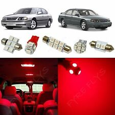 12x Red LED lights interior package kit for 2000-2005 Chevy Impala CI2R