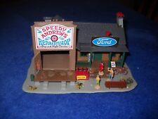 Vintage  Hard Plastic Model Train Building  Ford Repair Shop - Pola Quick