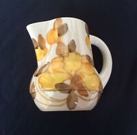 Nicely Designed, Hand-painted, Small Ceramic Jug From Italy, In Good Condition.