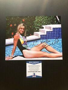 Chris Evert classic signed autographed sexy tennis 8x10 photo Beckett BAS coa