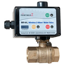 FortrezZ Z-Wave Automated Water Shut-off Valve, 1/2 In. Valve (WV01LFUS050)