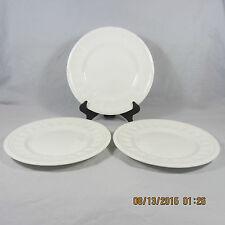 Wedgwood Colosseum Bread Butter plates set 3 white embossed rim bars bicentenary