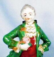 Occupied Japan Colonial Man Figurine Porcelain Vintage Lace Missing