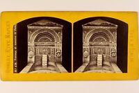 Italia Pompei Fontana Mosaico Foto Roberto Rive Stereo Vintage Albumina c1870
