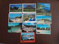 lote de 10 postales de las Islas Baleares.
