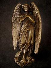Bronze ange angel avec 2 tète putti - signe - sculpture pour bénitier ?
