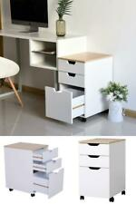 3 Drawer Rolling Storage Organizer Cabinet With Locking Wheels Contemporary Style