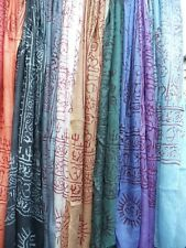 Ethnic Indian Scarf Shawl Wrap Fair Trade Cotton Tribal Om Ganesh Shiva