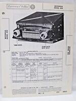 Vintage Sams Photofact Folder Radio Parts Manual Motorola Model 400 Receiver