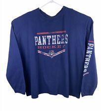 NHL Florida Panthers Hockey Men's 3XL Shirt Crewneck Long Sleeve Blue Red Logo