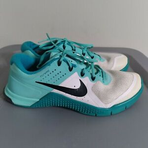 Nike Metcon 2 Women's Size 8.5 Crossfit Training Shoes Blue/Teal/White Sneakers
