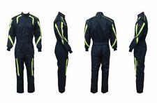 Kartoverall 2-lagig, Cordura Overall, Kartanzug, Größen 110 - 7XL,navy blue/lime