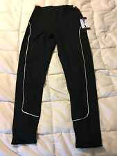 NEW WOMENS TANTRUM INK BLACK WHITE ELASTIC BAND PANTS SIZE PETITE MEDIUM