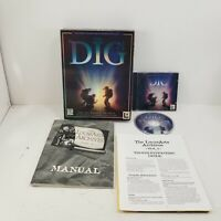 The Dig Big Box IBM PC CD-ROM Video Game 1995 Vtg Lucas Arts Steven Spielberg